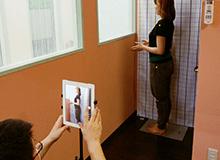 画像による歪み検査、バランスチェック